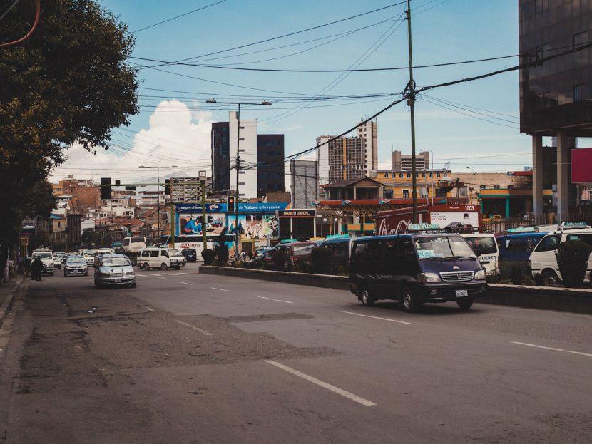Ulica w mieście La Paz