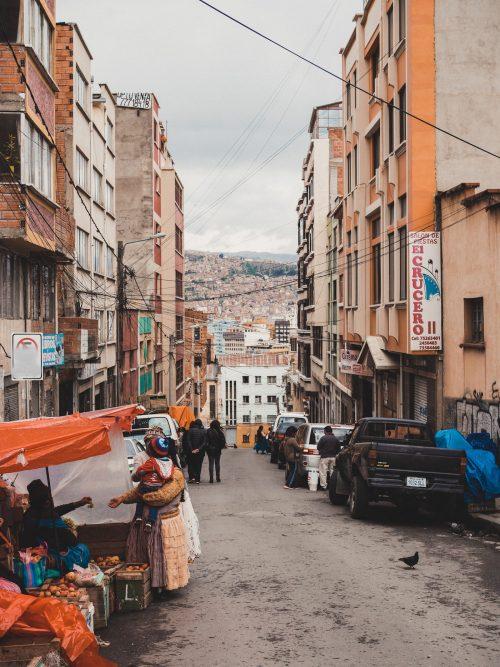 Stoisko na ulicy La Paz