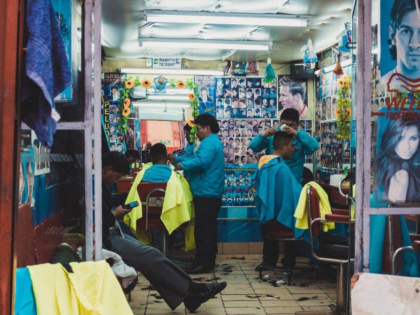 Zakład fryzjerski w La Paz