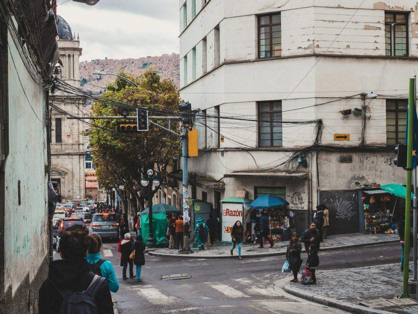 Skrzyżowanie ulic w La Paz