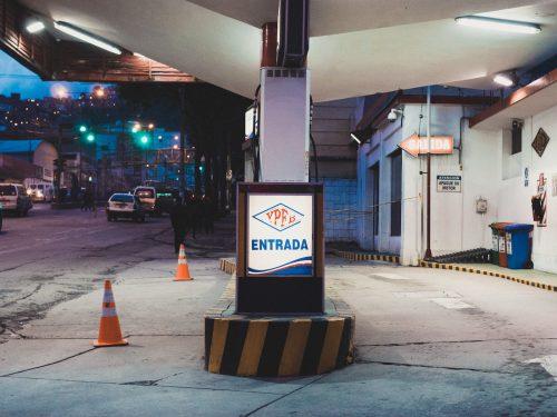 Stacja benzynowa w La Paz