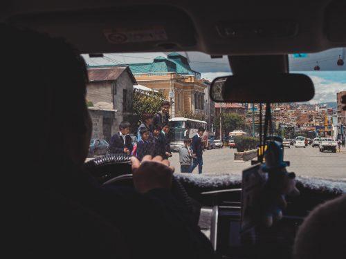 Widok z taksówki