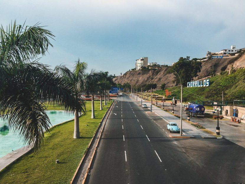 Wybrzeże w Limie z Palmami
