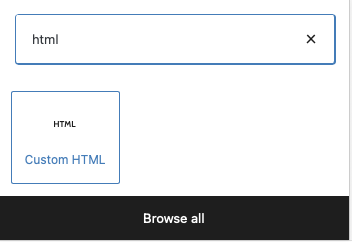 adding HTML code on the page