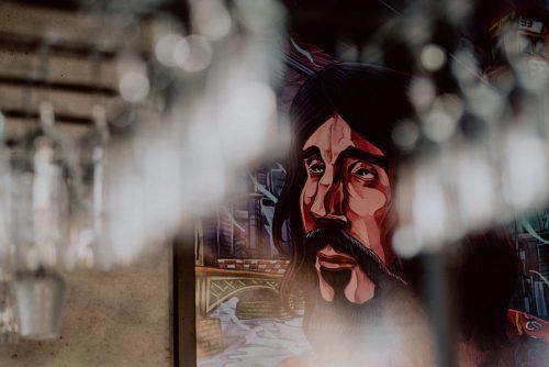 Obraz na ścianie w klubie SEN