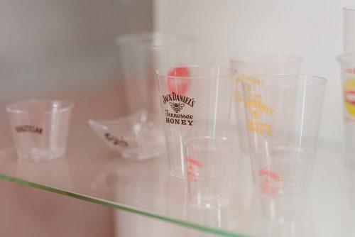 Plastikowe kubki z logo