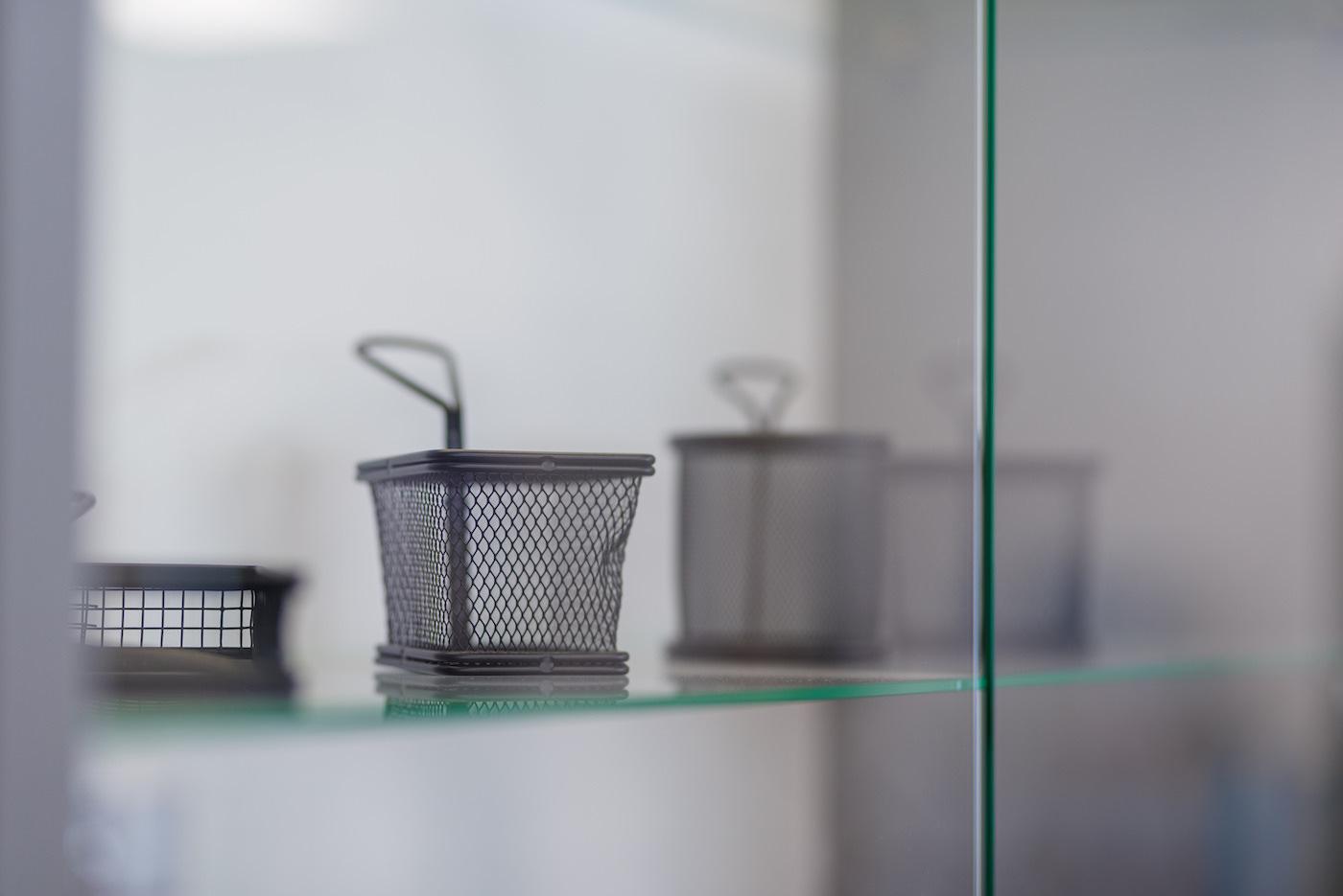 Metalowe koszyczki do podawania frytek