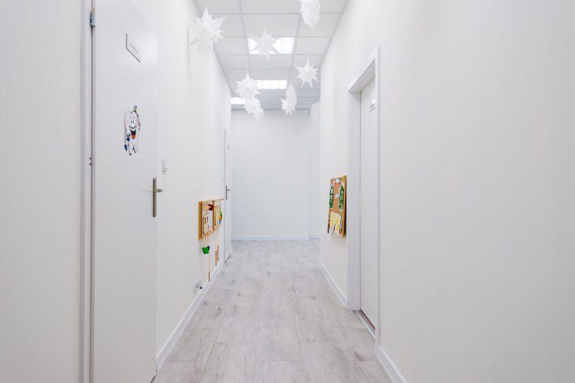 Corridor in kindergarten