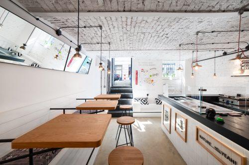 Wnętrze restauracji tex-mex w Warszawie - fotografia wnętrz