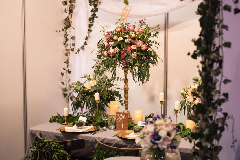 stoisko z kwiatami na targach
