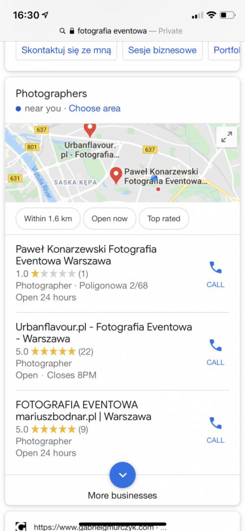 Firma wyróżniona w Mapach Google