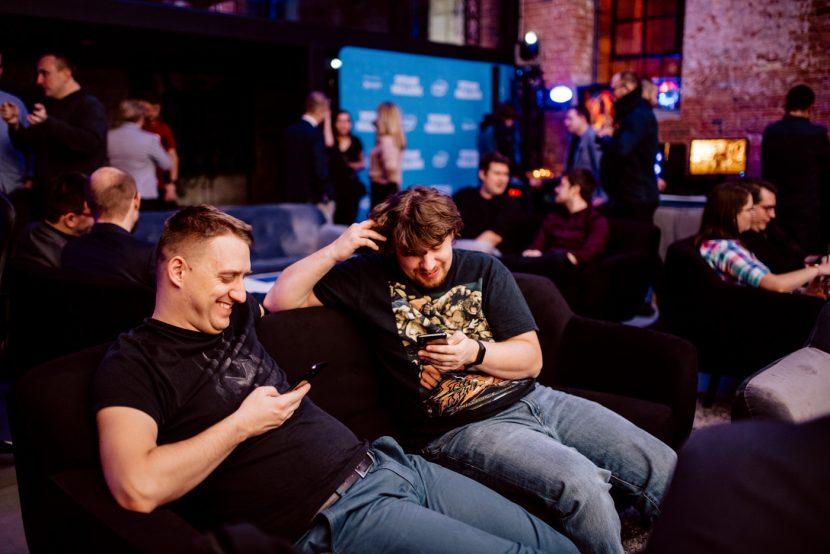 men with phones