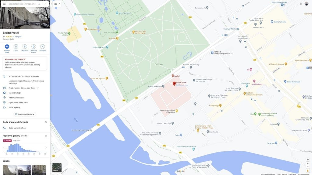 Google map on the website