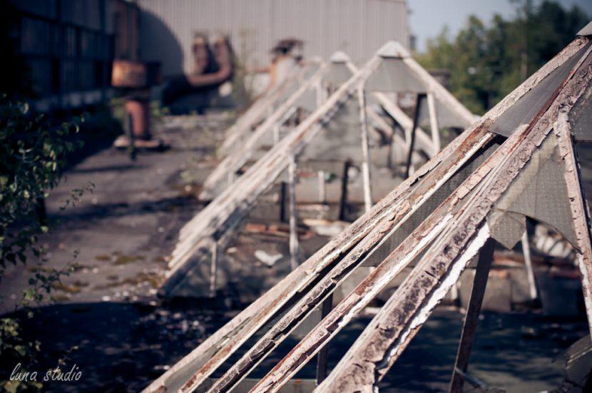 szklane dachy fabryki