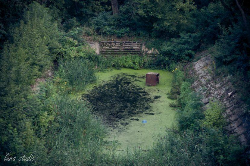 zielony zbiornik z wodą