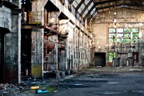 Opuszczona fabryka Ursus w Warszawie