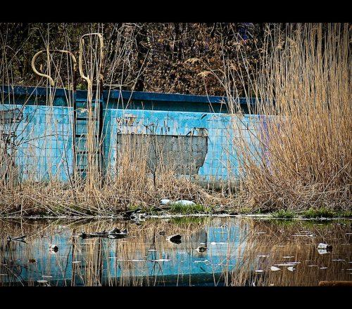 drabinka do starego basenu