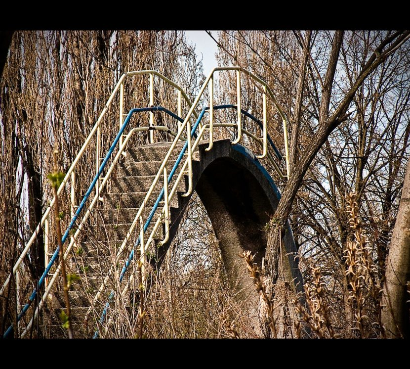 schody na zjeżdzalnię