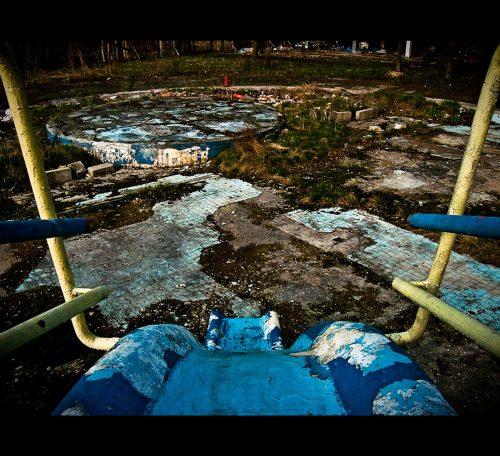 Opuszczone Baseny Skry w Warszawie na Pole mokotowskie
