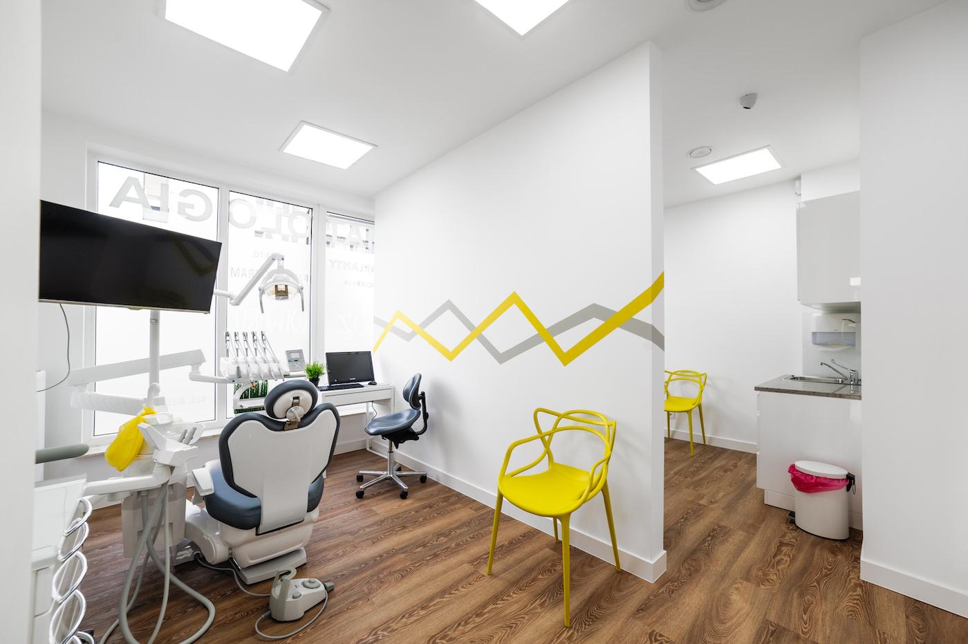 fotografia wnętrz kliniki stomatologicznej