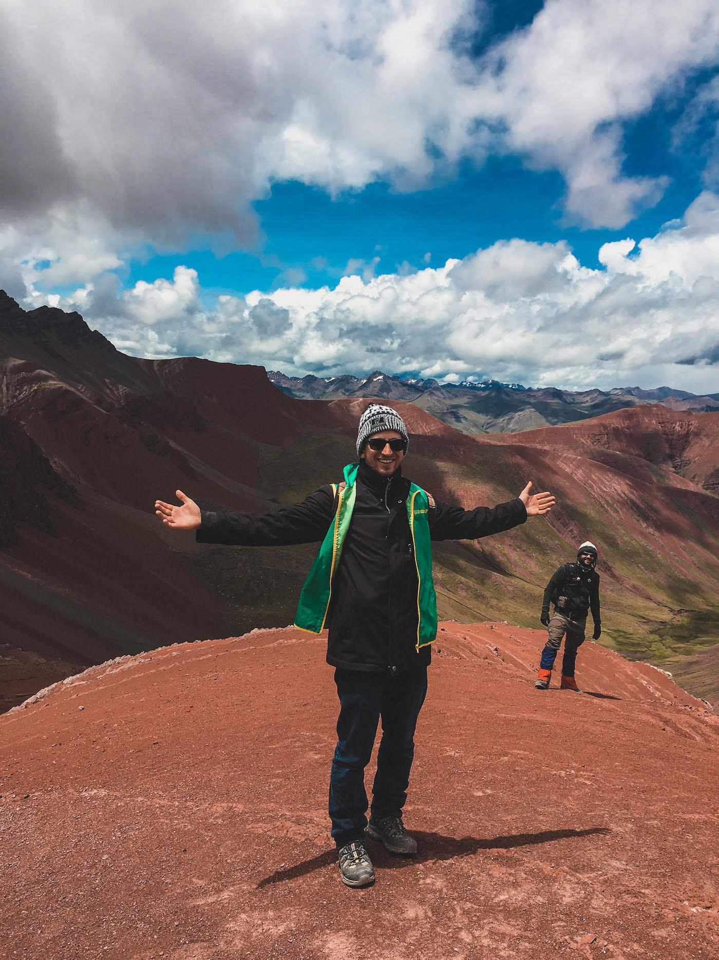 Zdjęcie na szczycie czerwonej doliny