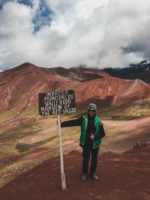 Zdjęcie w czerwonej dolinie Peru