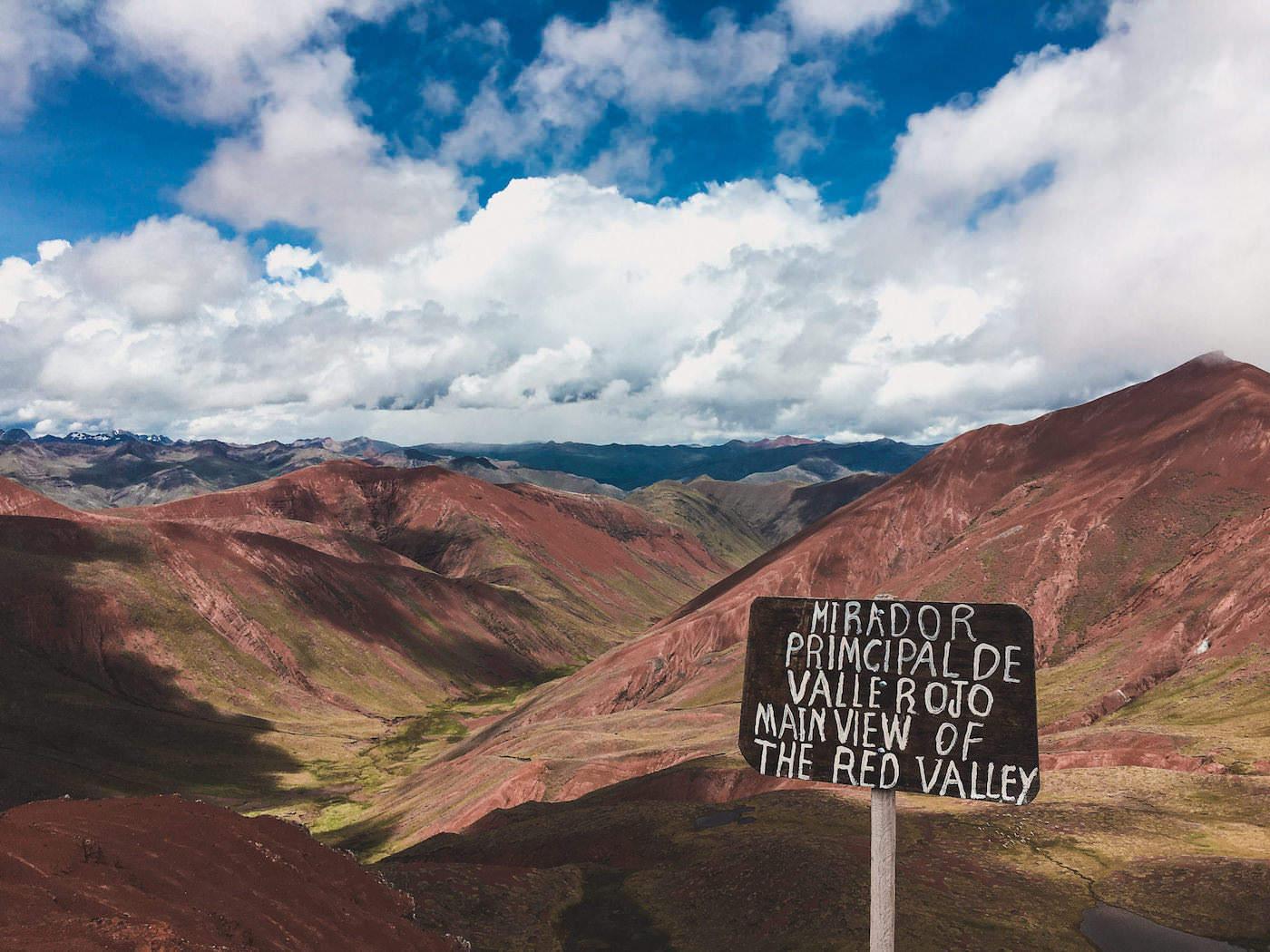 Czerwona dolina w Peru