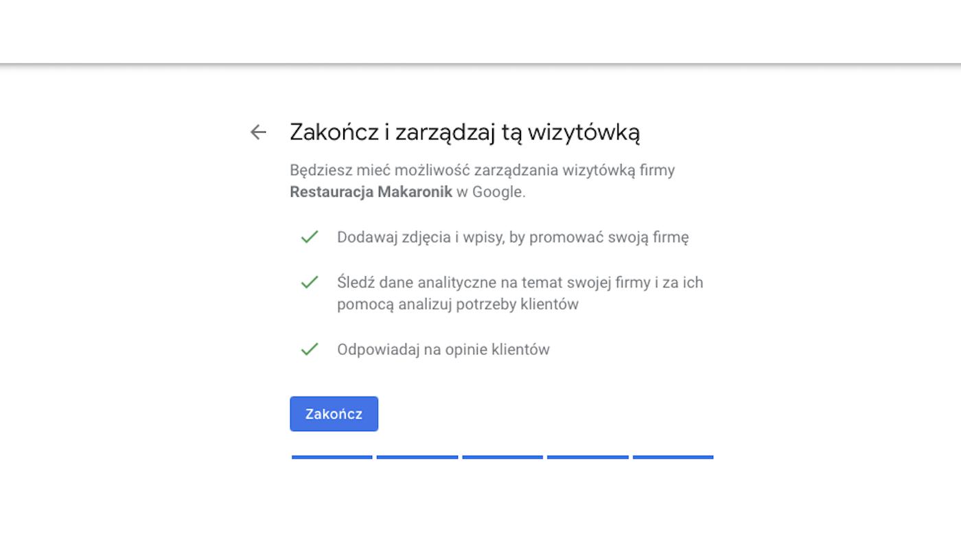zakoncz dodawanie firmy - Urbanflavour.pl