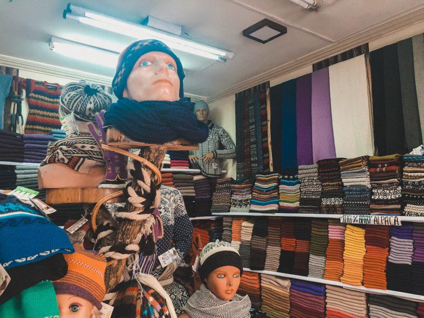 Sklep z ubraniami w La Paz