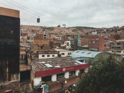 Kolejka linowa w La Paz