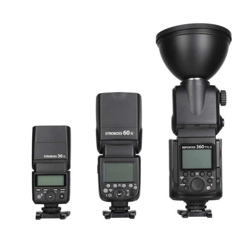 Quadralite reporter 36 60 and 360 TTL