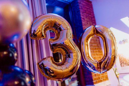 Balony na urodziny liczba 30