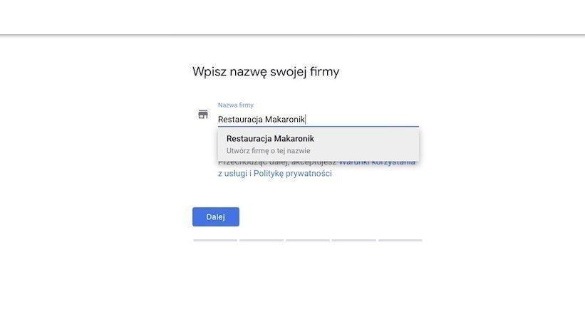 Enter your business name in Google Maps