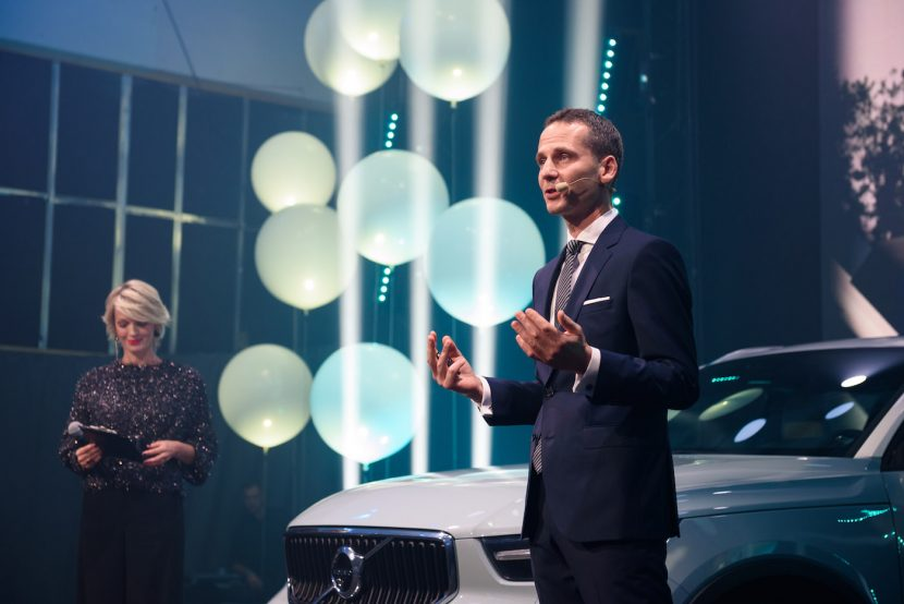 The host presents the new Volvo Xc40