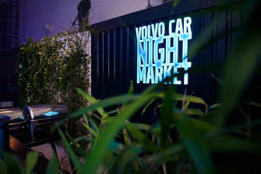 Volvo Car Night Market stand