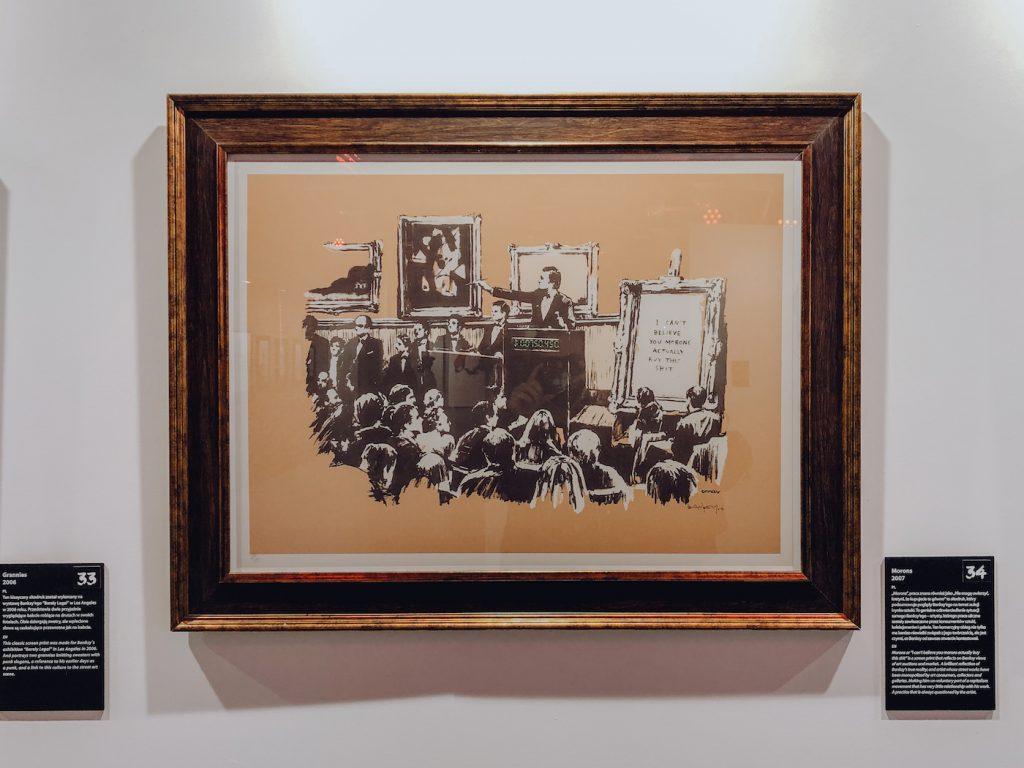 Obraz aukcji obrazów według banksy