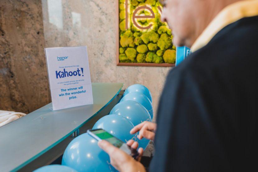 Rejestracja gości i informacja o quizie kahoot