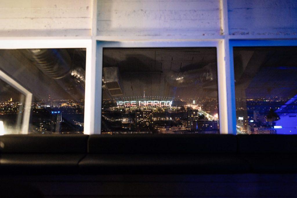 Widok na stadion PGE Narodowy z okien Smolna 8 Studio