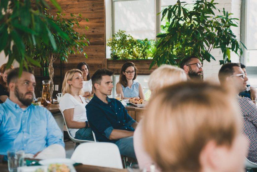 Uczestnicy szkolenia w restauracji LIF w Warszawie