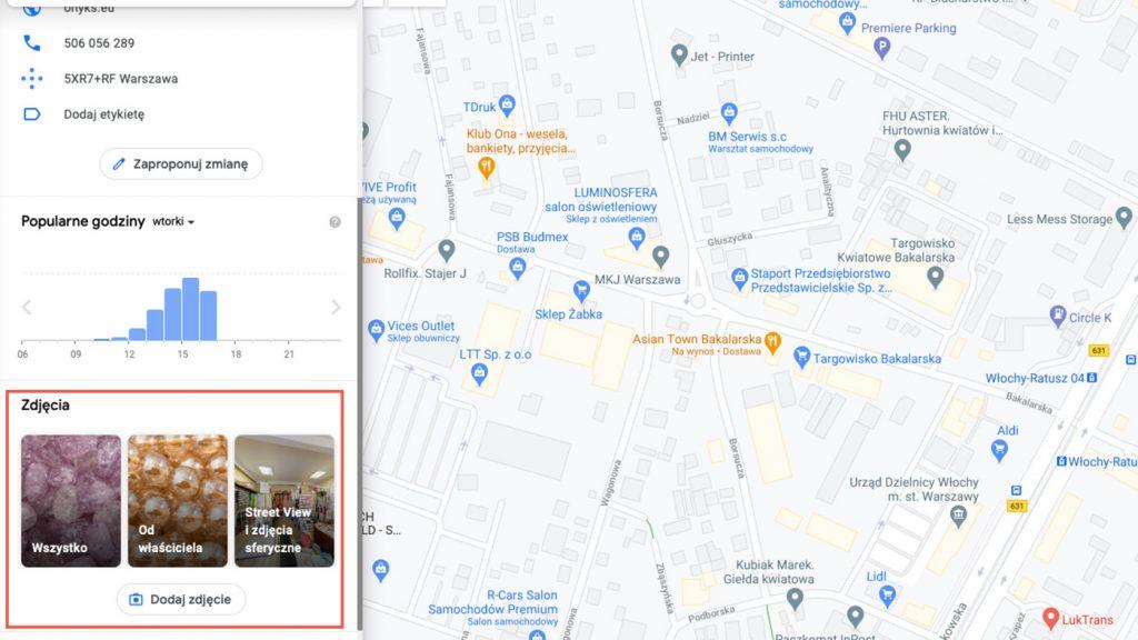 Zdjęcia i wirtualny spacer w Mapach Google