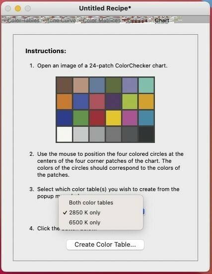 Profil dual Illuminant 6500k w DNG Profile Editor