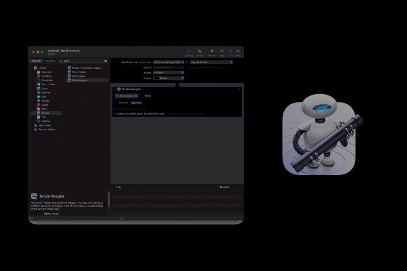 Automatyczne skalowanie zdjęć MacOS