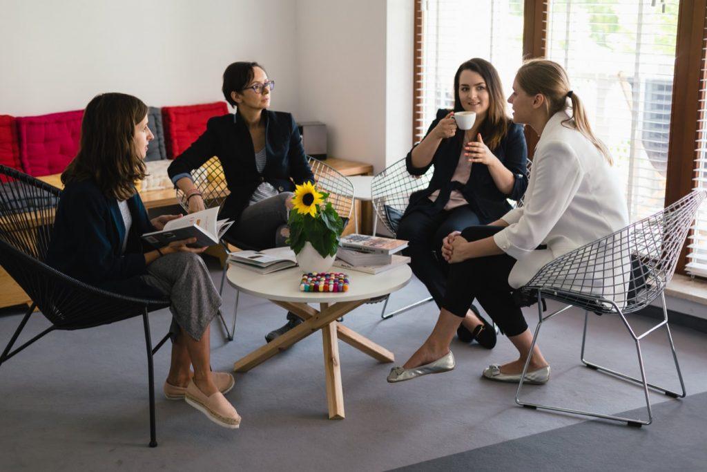 Spotkanie biznesowe przy kawie
