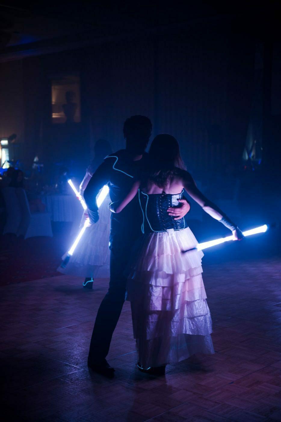 Pokaz świateł i tańca fotografia eventowa